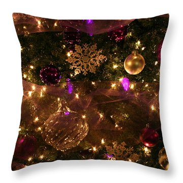 Dim The Lights Throw Pillow by Marie Neder