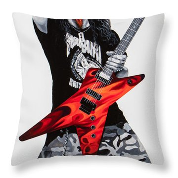 Dimebag Forever Throw Pillow
