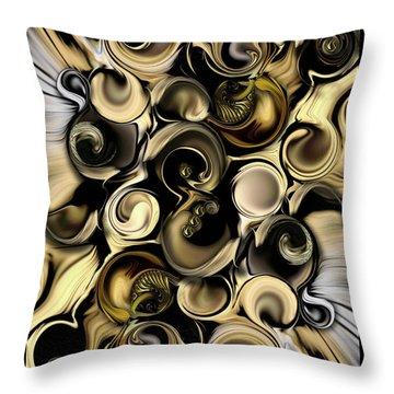 Throw Pillow featuring the digital art Dimension Vs Shape by Carmen Fine Art
