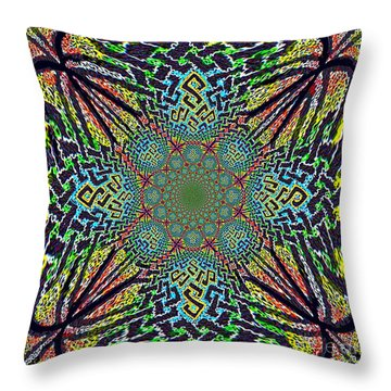 Dimensional Celtic Cross Throw Pillow