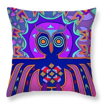Dimensional Owl Throw Pillow by Ed Tajchman
