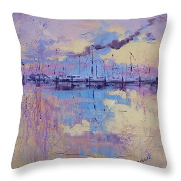 Dimensions  Throw Pillow by Laura Lee Zanghetti