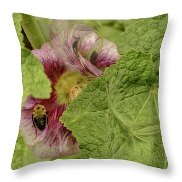 Dimensions Of Bees_flowers Throw Pillow