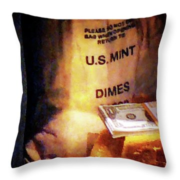 Dimes Dollars And Gold Throw Pillow