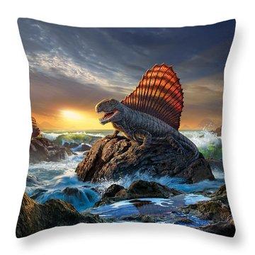Dimetrodon Throw Pillow