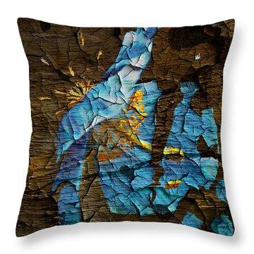 Diminishing Poppy Throw Pillow by Svetlana Sewell