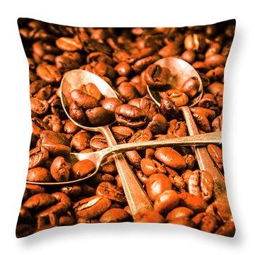 Diner Beans Throw Pillow