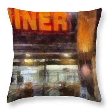 Diner Throw Pillow by Francesa Miller