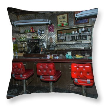 Diner Interior Throw Pillow