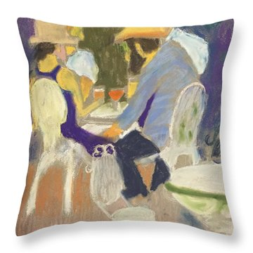 Diner's At Justine's Throw Pillow