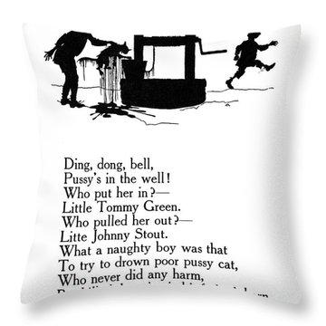 Ding, Dong, Bell Throw Pillow by Granger