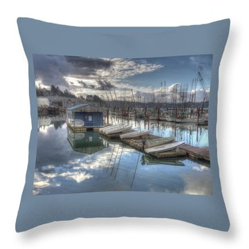 Dinghies For Rent Throw Pillow
