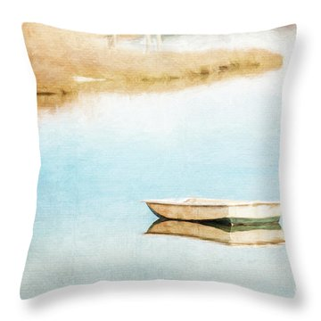 Dinghy In Eastham Throw Pillow