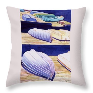 Dinghy Lines Throw Pillow