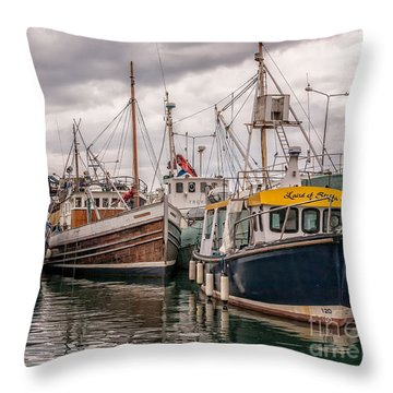 Dingle Harbour Throw Pillow