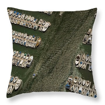 Dingy Ride Throw Pillow