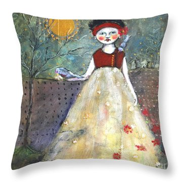 Dining By Midnight  Throw Pillow