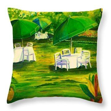Dining In The Park Throw Pillow