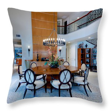 Dining In The Round Throw Pillow