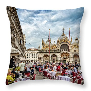 Dining On St. Mark's Square Throw Pillow