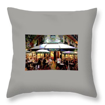 Dining Out Throw Pillow by Charles Shoup
