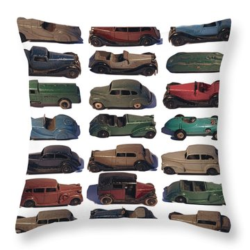 Dinky Car Park Throw Pillow