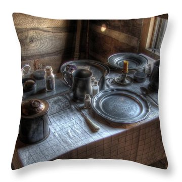 Dinner Is Served Throw Pillow by Jane Linders