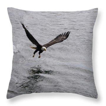 Dinner? Prince Rupert Eagle  Throw Pillow
