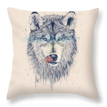 Dinner Time Throw Pillow by Balazs Solti