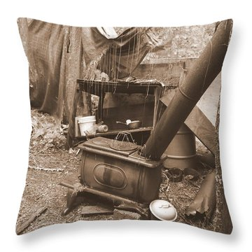 Throw Pillow featuring the photograph Dinner Will Have To Wait by Marie Neder