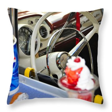 Dinning In The Fifties Throw Pillow by David Lee Thompson