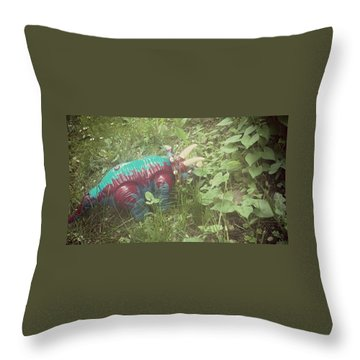 Dino Hide Throw Pillow