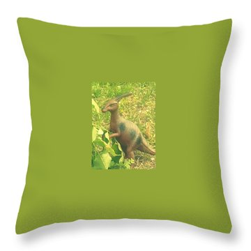Dino Lerk Throw Pillow