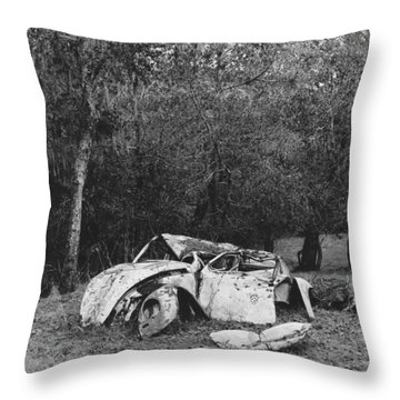 Dinosaur Graveyard Throw Pillow