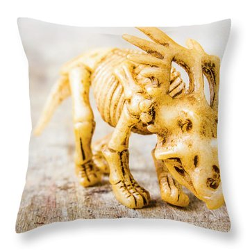 Dinosaurs At The Toy Museum  Throw Pillow