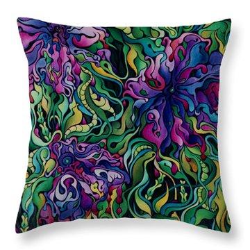 Dioxazine Disintegration Throw Pillow