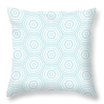 Dip In The Pool -  Pattern Art By Linda Woods Throw Pillow