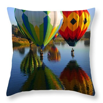 Dipping The Basket Throw Pillow by Mike  Dawson