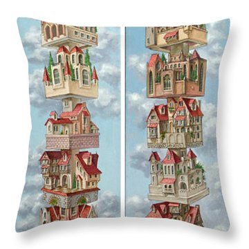 Diptych Air Castles Throw Pillow