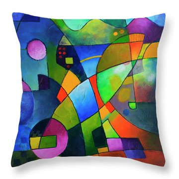 Direction North Throw Pillow