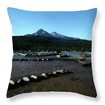 Throw Pillow featuring the photograph Directional Points by Laddie Halupa