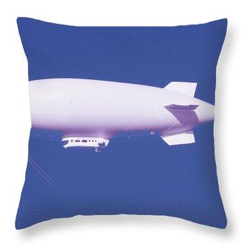 Dirigible Throw Pillow by Al Bourassa