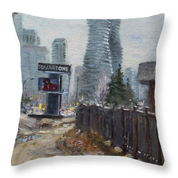 Square One Mississauga Throw Pillow