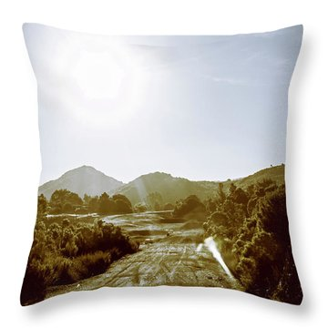 Dirt Roads Of Outback Tasmania Throw Pillow