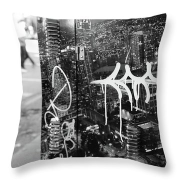 Dirty City Blues  Throw Pillow