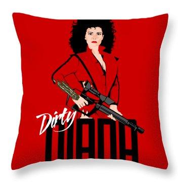 Dirty Diana Throw Pillow