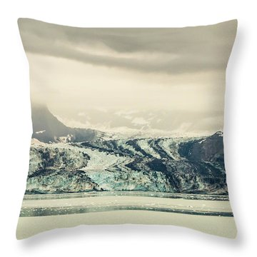 Dirty Glacier Throw Pillow