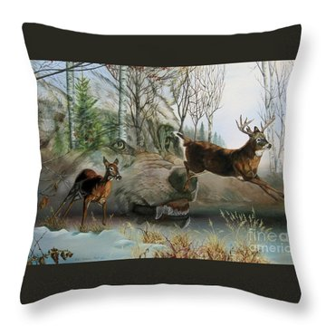 Disappearing Predator Throw Pillow