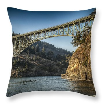 Disappointment Bridge Throw Pillow