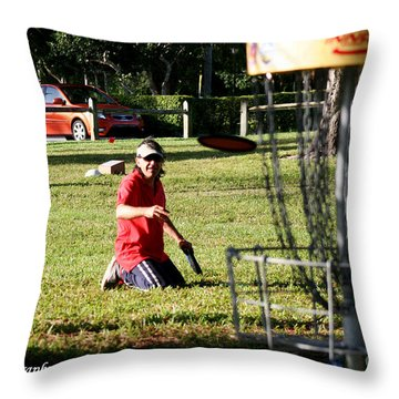 Disc 3 Throw Pillow